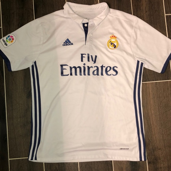 differently 967c5 74631 Adidas Gareth Bale 16-17 Real Madrid Home Jersey